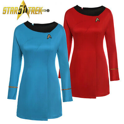 Star Trek Uniform Costume Adult TOS Original Serie Cosplay Halloween Fancy Dress