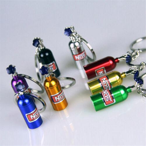 NOS Bottle Turbo Key Chain Nitrous Oxide Bottle Keyring Stash Storage Pill Box