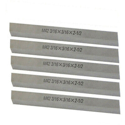 5 Pc M42 316 X 316 X 2-12 Cobalt Steel Square Tool Bit Lathe Fly Cutter
