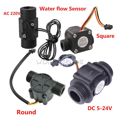 Water Flow Sensor Switch Dn25 Dc 5-24vac 220v 3a G12 Fluid Flowmeter Counter