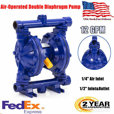 Air-operated Double Diaphragm Pump 12gpm 12 Inlet Outlet Petroleum Fluids Us