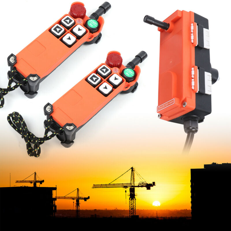 Industrial Crane Wireless Radio Remote Control,Transmitter+Receiver,4 Buttons US