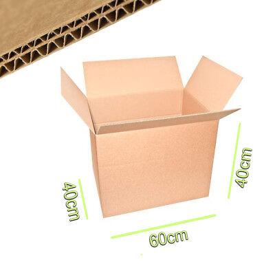 15 Scatole di Cartone 60x40x40 Doppia Onda per Trasloco Imballaggio Spedizioni