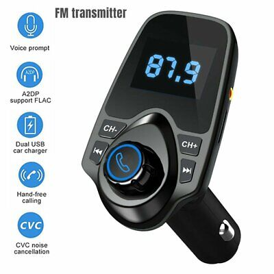 2020 Car Wireless Bluetooth FM Transmitter Radio Adapter MP3 Player USB Charger