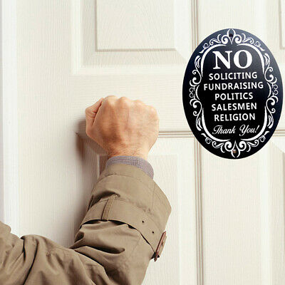 No Soliciting  Thank You Sign Home Business Decoration Wooden Wall Signs X1H1 ()