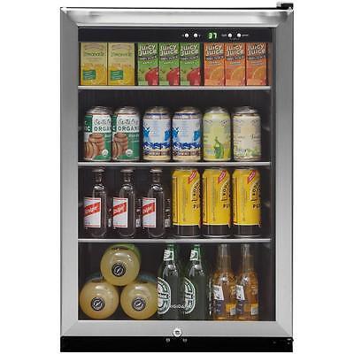 22 in. Beverage Center Can Cooler Drink Soda Beer Fridge Freestanding Glass Door