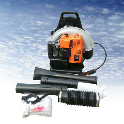 Commercial Lawn Grass Leaf Blower 65CC 2-Stroke Backpack Gas Air-Cooling USA