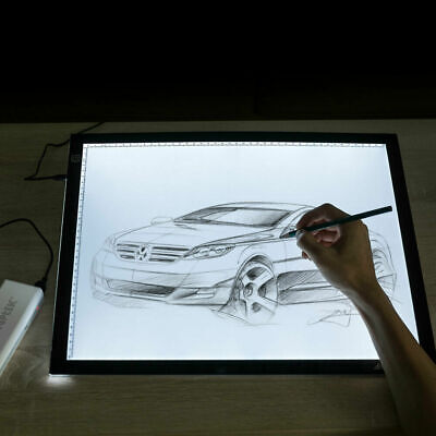 A3 Dimmable LED Tracing Light Box Board Tattoo Drawing Copy Pad Table Display US