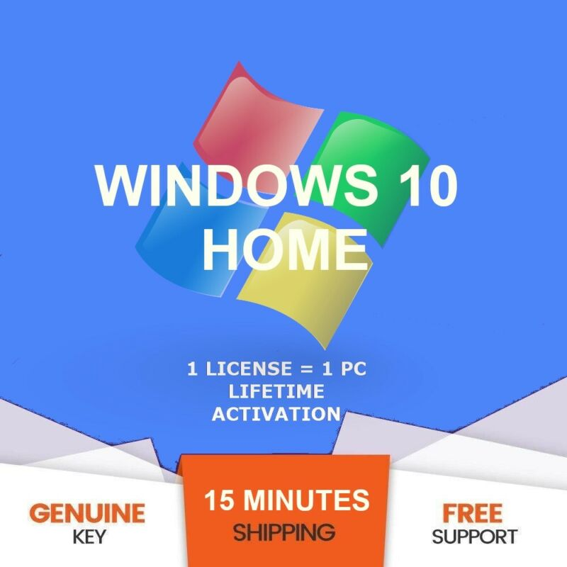 Win 10 Home Key 32/64 bit Product Genuine Activation Code eMail Delivery
