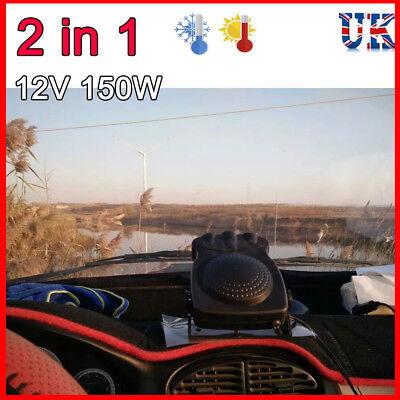 12V CAR HEATING COOLER DEMISTER DEFROSTER WINDSCREEN SCREEN DASH CERAMIC HEATER