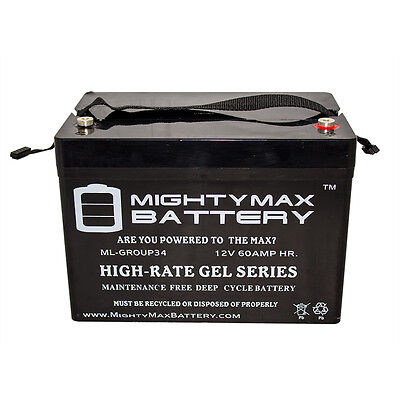 Mighty Max 12V Group 34 Replacement Battery For Permobil M300 PS Wheelchair