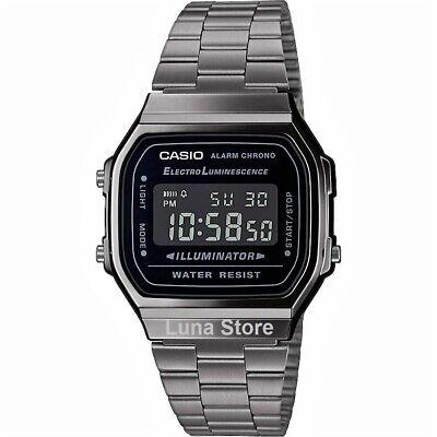 Reloj Digital CASIO A168WEGG-1B - Coleccion VINTAGE ICONIC - Correa De Acero