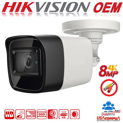 HIKVISION 8MP Camera  TVI 8 Megapixel  4K Mini Bullet CCTV Fix Lens IR 30M (Fixed Lens Bullet Camera)
