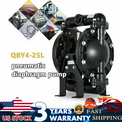 1 Aluminum Air-operated Double Diaphragm Pump 35 Gpm 150 Membrane Pump 38 Cfm