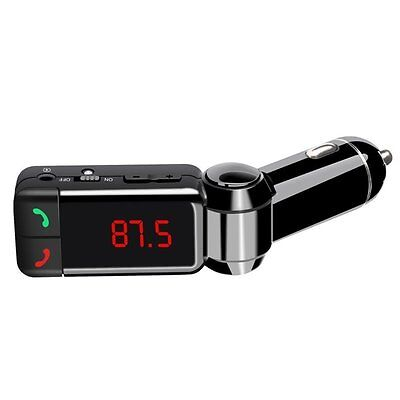 LCD Bluetooth Car Kit MP3 AUX FM Transmitter Dual 2 USB Charger Handsfree USA