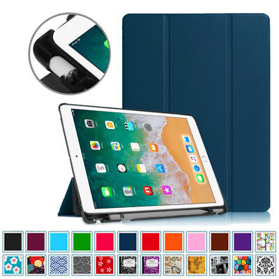 - iPad 9.7 6th Gen Case with Built-in Apple Pencil Holder Smart Slimshell Cover