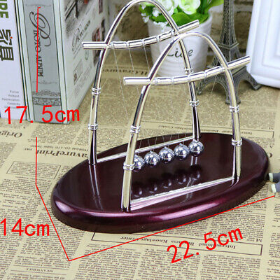 Physics Science Accessory Desk Toy Newtons Cradle Steel Balance Ball Decoration