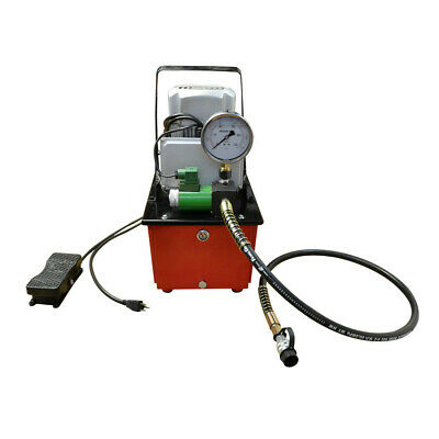 Single Acting 10000 Psi Hydraulic Pump Solenoid Valve 8l Oil Electric Foot Pedal