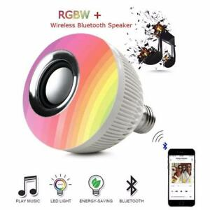 FREE SHIPPING !!!! 24 LED E27 Smart RGB RGBW Wireless Bluetooth Speaker