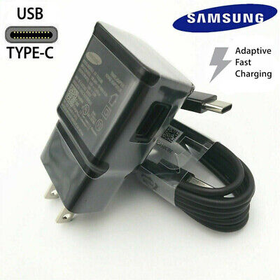 Original Samsung Galaxy Note10 S8 S9 Plus Fast Wall Charger OEM 4fT Type-C Cable