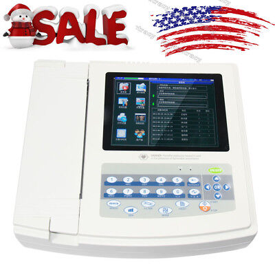 Usa 12-lead 12-channel Electrocardiograph Ecgekg Machine Interpretation1 Paper