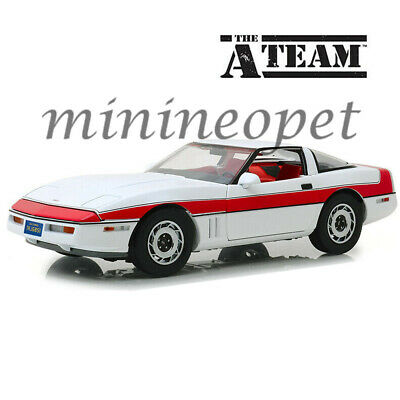 GREENLIGHT 13532 HOLLYWOOD THE A TEAM 1984 CHEVROLET CORVETTE C4 1/18 WHITE RED ()
