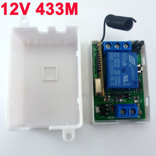 DC 12V 433MHz Relay Wireless RF Switch On/off Switch + Delay Time Timer