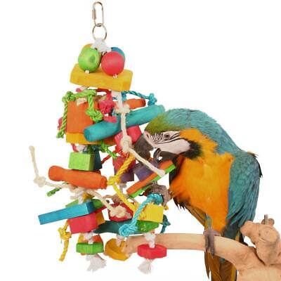 Knotty Stacker Wood & Rope Parrot African Grey Amazon Macaw Cockatoo Conure Toy