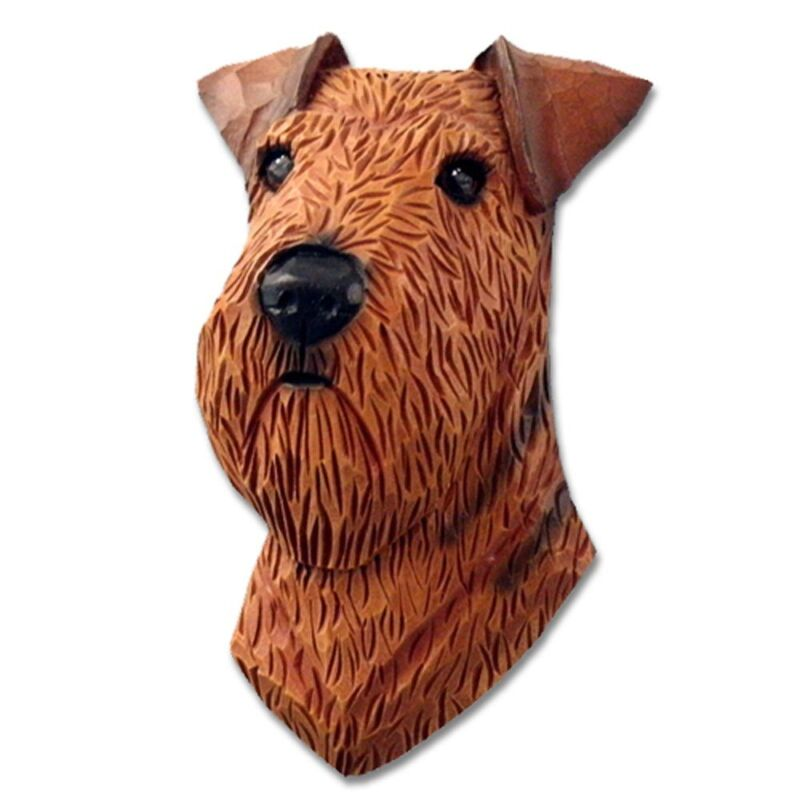 Airedale Head Plaque Figurine