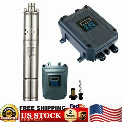 Farm Ranch Solar Powered Submersible Deep Well Water Pumpdc 72vmax Lift160m