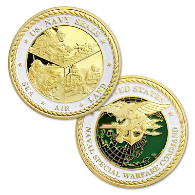 US Navy SEAL Team Special Force Challenge Coin USN Military Theme Collectible