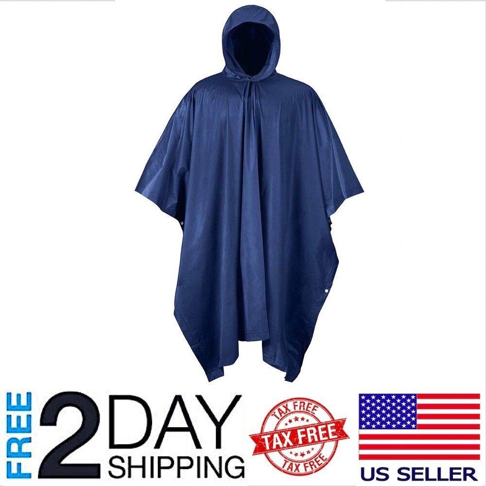 Outerwear Poncho PVC Rain Waterproof Raincoat Heavy Duty Lar