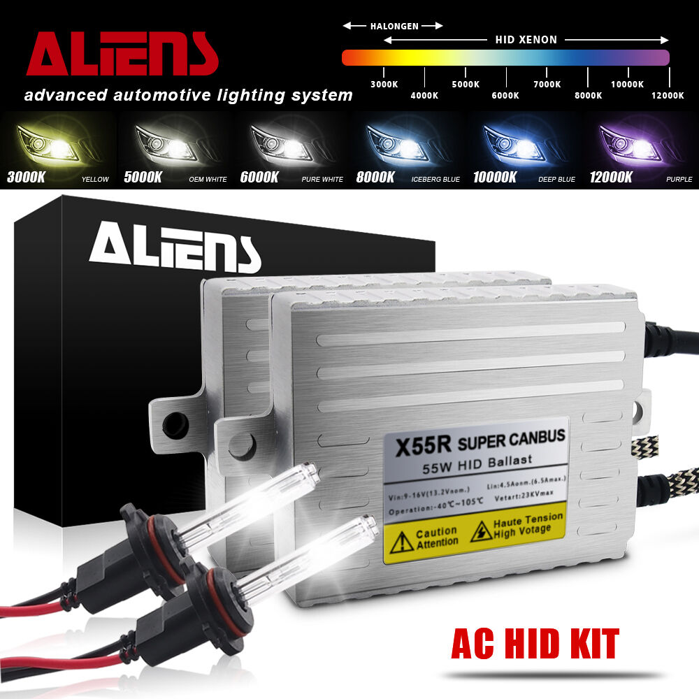 Ivory White 5000K x 1 pair bundle with 35W Compact Digital Slim Ballast x 2 H8//H9 Xentec Xenon bulb H11