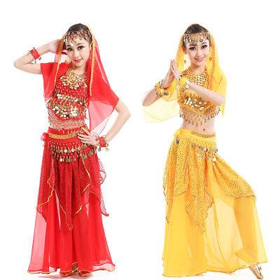 Belly Dance Costumes for Kids Girls Children Belly Dance Skirt Bollywood Dancing - Bollywood Costumes For Kids