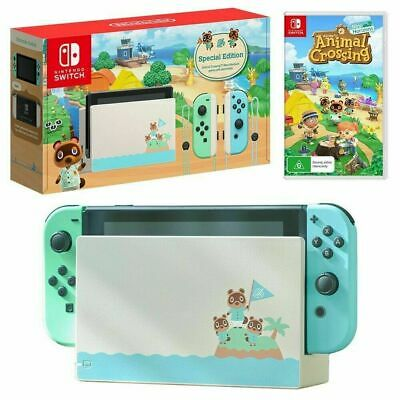 Nintendo Switch Animal Crossing: New Horizons Limited Edition Console w/ GAME!