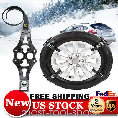 8pc Anti-skid Car Snow Tyre Tire Chains Beef Tendon Vehicles Wheel Chain Black