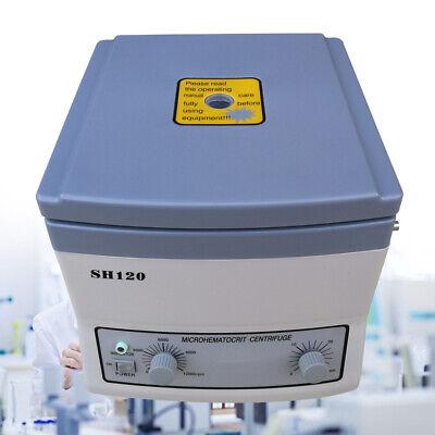 Electric Hematocrit Centrifuge Machine 12000rpm High-speed Lab Equipment Timer