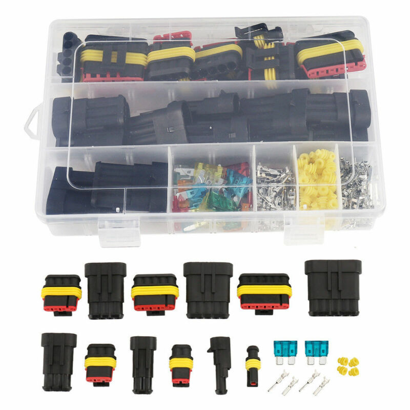 1-6 Pin Electrical Wire Connector Plug Set Waterproof Automotive Seal Plug Kit