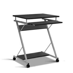Ima Metal Frame Pull Out Computer Desk Black