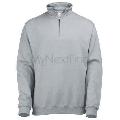 AWDis Just Hoods Mens Womens Sophomore 1/4 Zip Sweatshirt Jumper