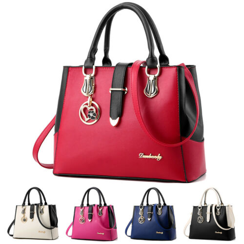 Women PU Leather Handbag Shoulder Messenger Satchel Tote Pur