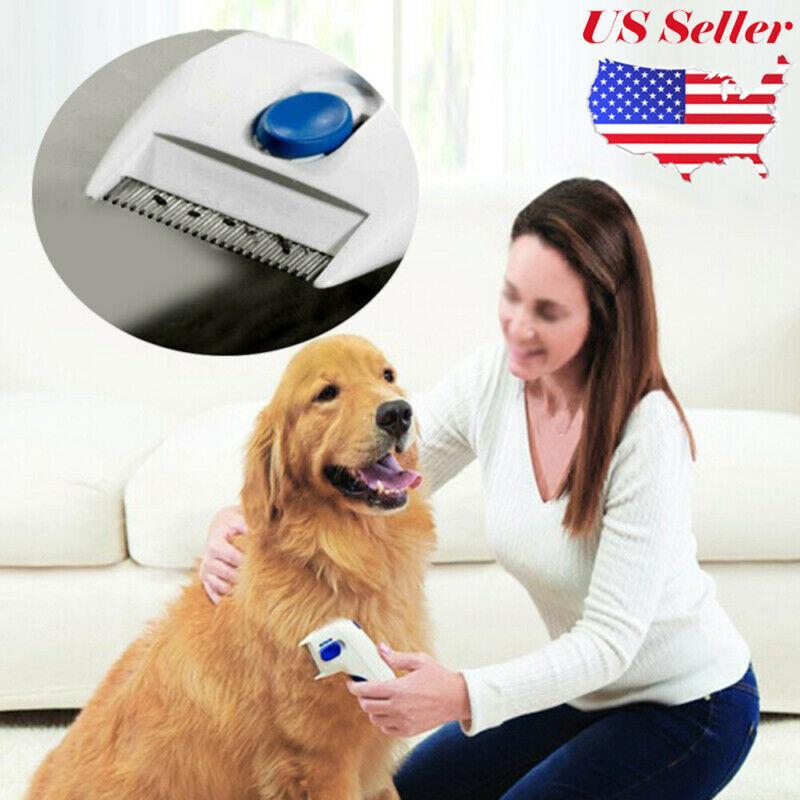 Flea Doctor Electric Dog Comb Brush Cat Pets Head Lice Remover Anti Control BO