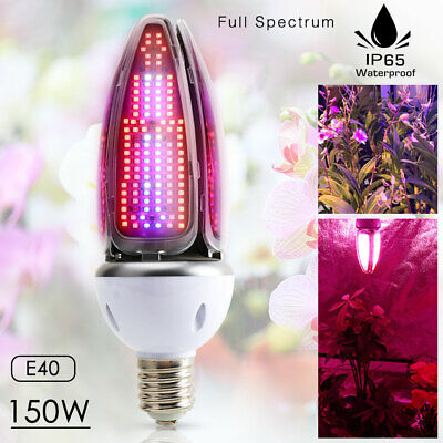 E40 LED Grow Light 150W Full Spectrum UV IR Plant Lamp BEST For indoor Plant
