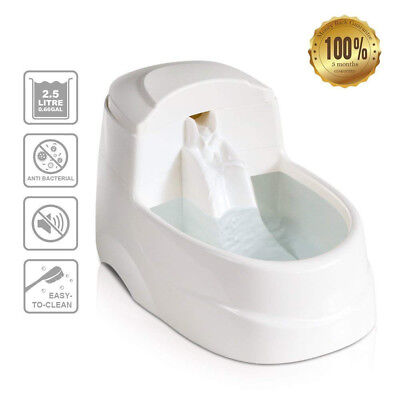 Cat Drinking Fountain Dog Water Dispenser With 5Pcs Filters and  2.5L (0.66 gal)
