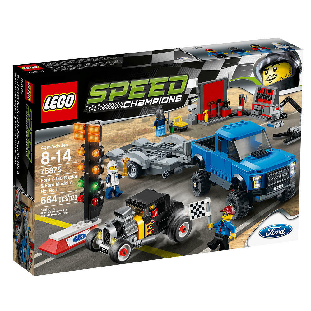 LEGO Speed Champions Ford F-150 Raptor & Ford Model A Hot Ro