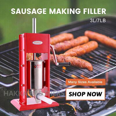 Hakka 3l Sausage Stuffer 2 Speed Stainless Steel 7lb Vertical Meat Filler Maker