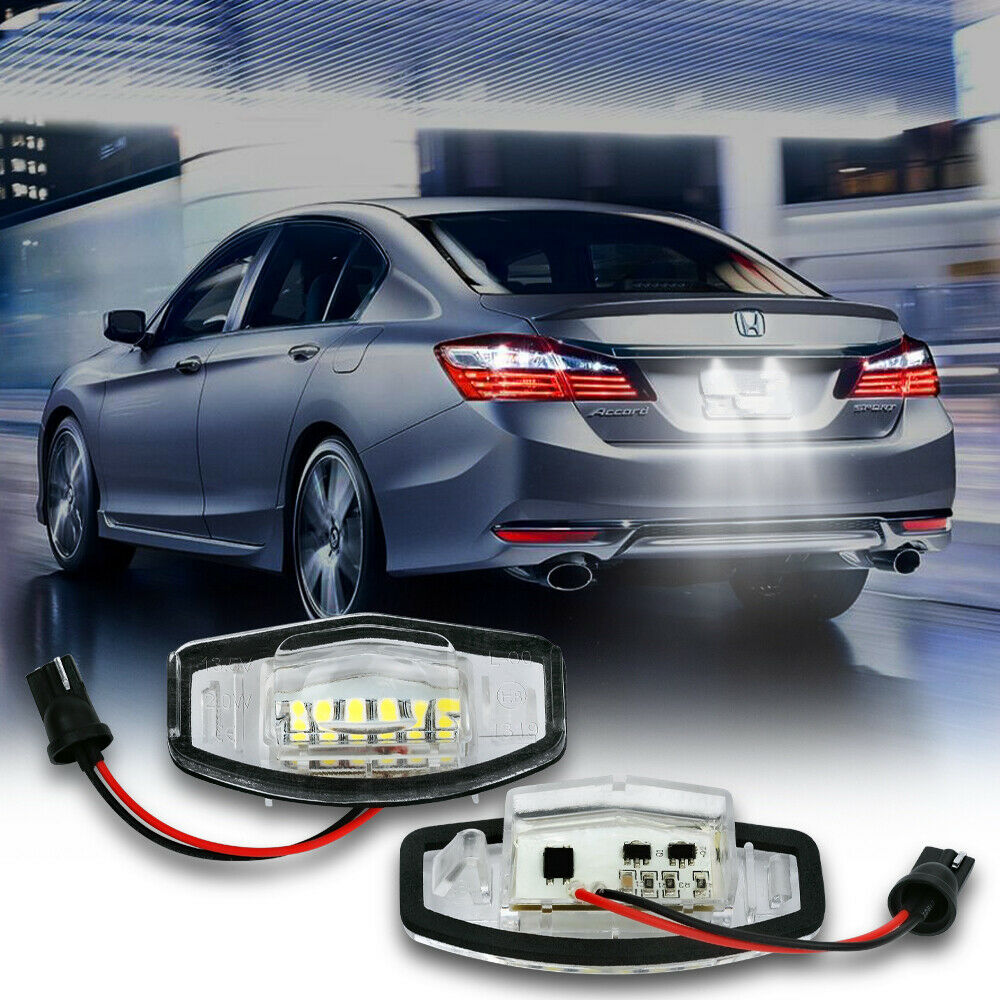 White LED License Plate Light For Honda Civic CRV Accord