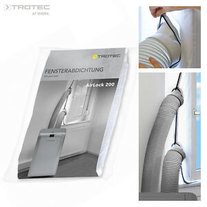 TROTEC AirLock 200 HotAirStop window seal for air conditioners, tumble dryer