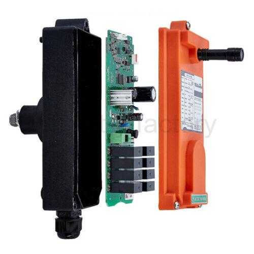 2 Transmitters 6 Channels Industrial Wireless Crane Hoist Remote Control 65-440V