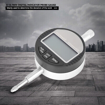 0.001mm0.00005 Digital Probe Dial Indicator Gauge Clock Range 0-12.7mm0.5